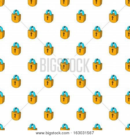 Broken lock pattern. Cartoon illustration of broken lock vector pattern for web