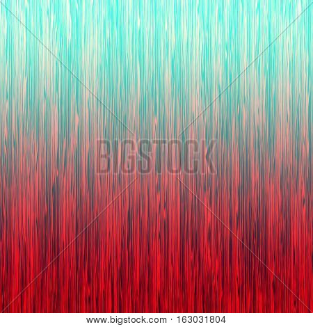 Red blue ombre striped abstract background. Digitally generated abstract background with thin rough vertical lines and gradient coloring.