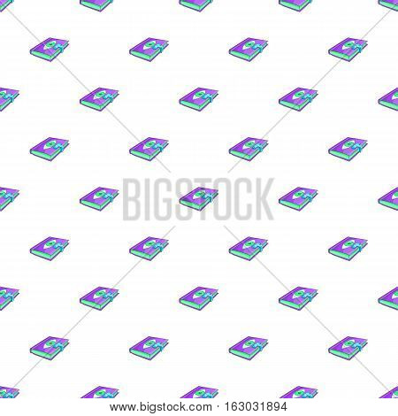 Book of wizard pattern. Cartoon illustration of book of wizard vector pattern for web