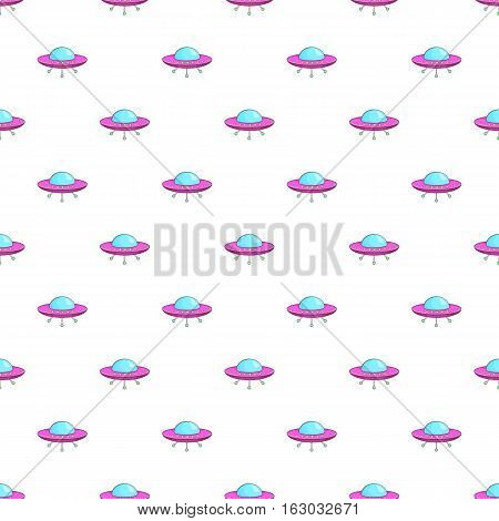 UFO pattern. Cartoon illustration of UFO vector pattern for web