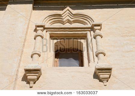 Window of old building in Kirillo-Belozersky monastery Russsia.