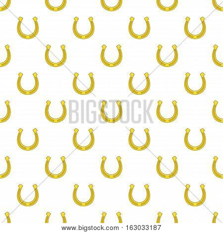 Horseshoe pattern. Cartoon illustration of horseshoe vector pattern for web