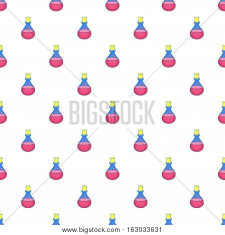 Flask of oil pattern. Cartoon illustration of flask of oil vector pattern for web