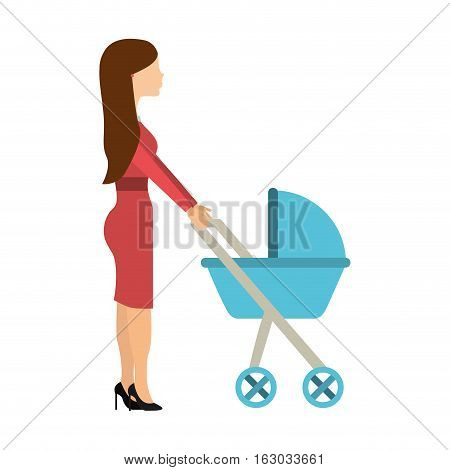 mother with baby isolated icon vector illustration design