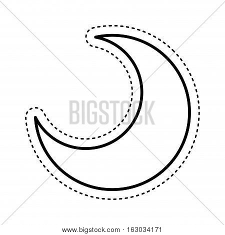 moon silhouette isolated icon vector illustration design