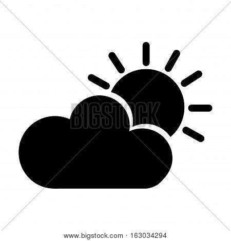 sun with cloud isolated icon vector illustration design