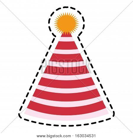 Hat icon. Happy birthday celebration decoration and party theme. Isolated design. Vector illustration