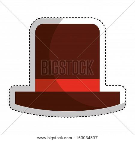 funny hat party isolated icon vector illustration design