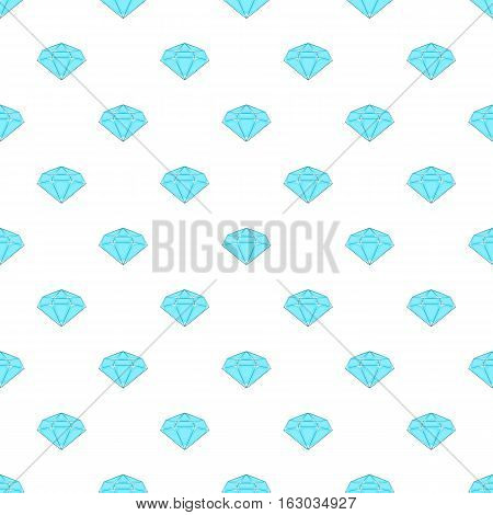 Polished diamond pattern. Cartoon illustration of polished diamond vector pattern for web