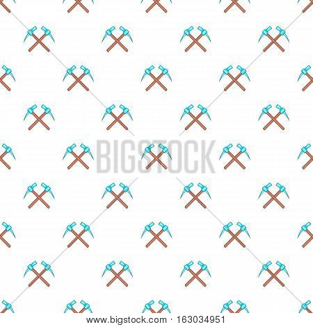 Two picks pattern. Cartoon illustration of two picks vector pattern for web