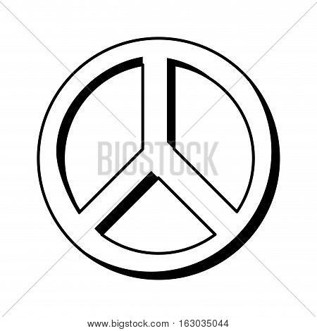 peace symbol isolated icon vector illustration design