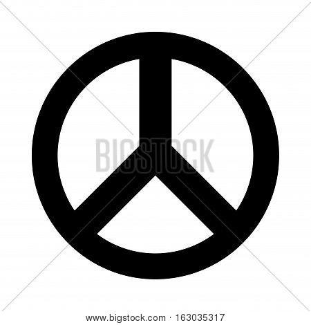 peace symbol isolated icon vector illustration design