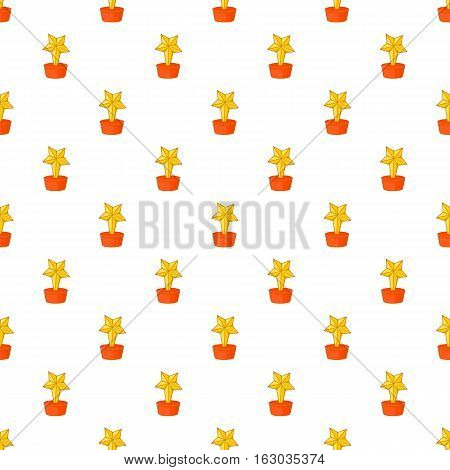 Gold cup star pattern. Cartoon illustration of gold cup star vector pattern for web