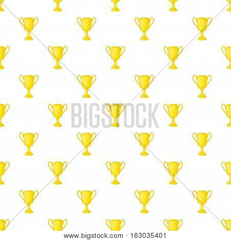 Gold cup pattern. Cartoon illustration of gold cup vector pattern for web