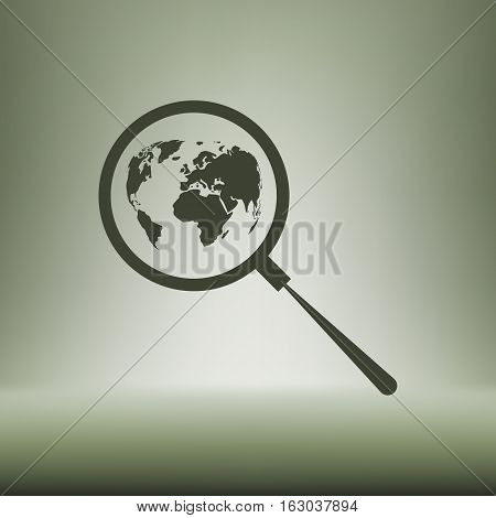 Analyzing The World. Magnifier Glass With Globe