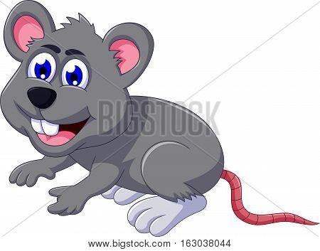 cute mouse cartoon posing for you design