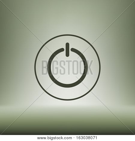 Power Sign Icon. Flat Design Style.