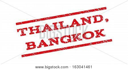 Thailand Bangkok watermark stamp. Text caption between parallel lines with grunge design style. Rubber seal stamp with dust texture. Vector red color ink imprint on a white background.