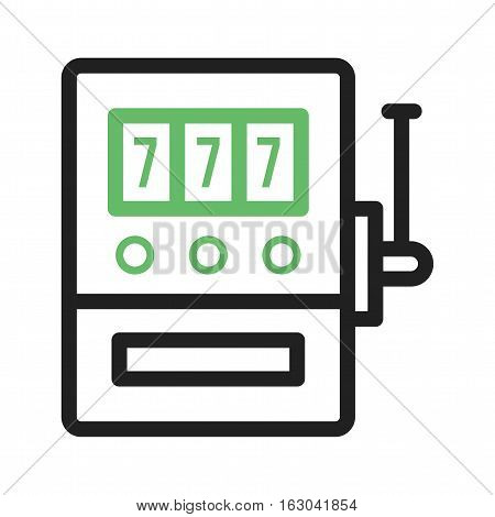 Slot, machine, casino icon vector image. Can also be used for casino. Suitable for use on web apps, mobile apps and print media.