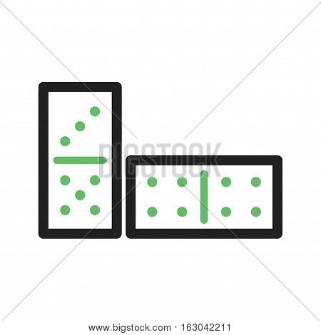 Game, domino, casino icon vector image. Can also be used for casino. Suitable for use on web apps, mobile apps and print media.