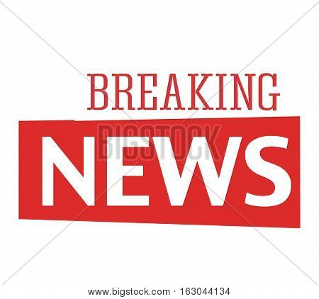 Breaking news text information business concept. Vector illustration of breaking news text communication. Newspaper press headline word journalism report message.