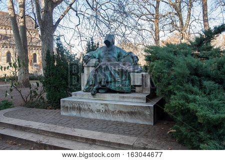 Statue Of Anonymous, Vajdahunyad Castle In Budapest, Hungary