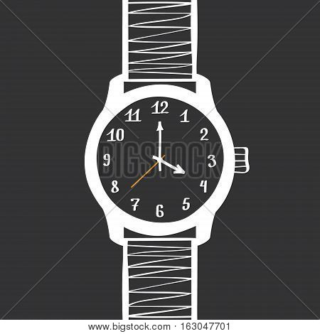 Hand Drawn Mechanical Watches. Vector Design Element