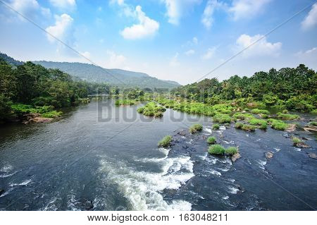 Chalakudy river Thrissur district Kerala state India