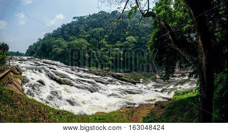 Vazachal low-angle water falls Thrissur district Kerala state India