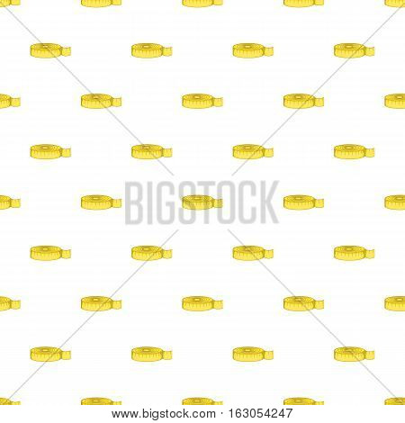 Measuring tape pattern. Cartoon illustration of measuring tape vector pattern for web