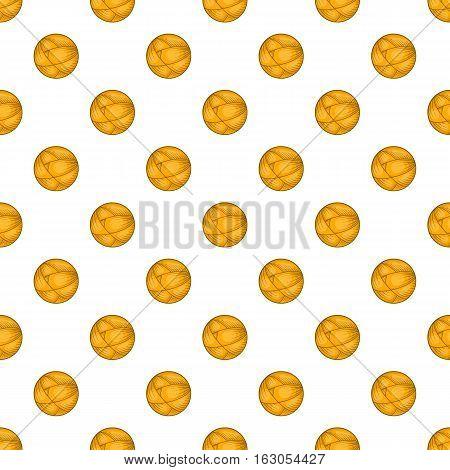 Ball of yarn pattern. Cartoon illustration of ball of yarn vector pattern for web