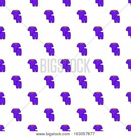 Football uniforms pattern. Cartoon illustration of football uniforms vector pattern for web