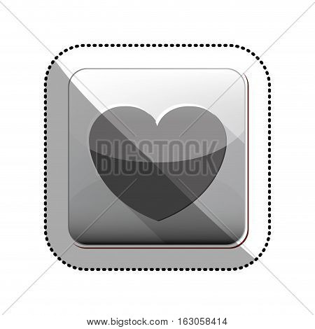 Heart icon. Love passion romantic and health theme. Isolated design. Vector illustration