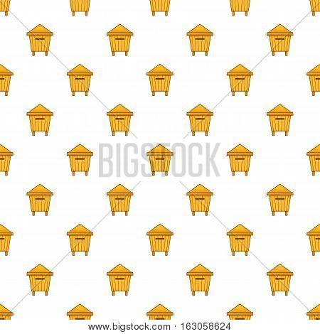 Beehive pattern. Cartoon illustration of beehive vector pattern for web