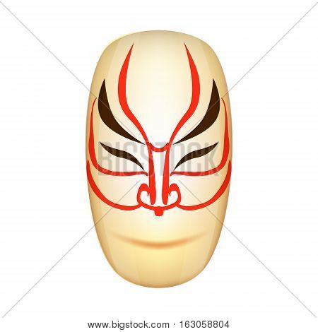 Traditional Japan Mask Kabuki Vector Illustration EPS10