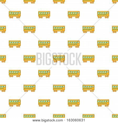 Rail car pattern. Cartoon illustration of rail car vector pattern for web