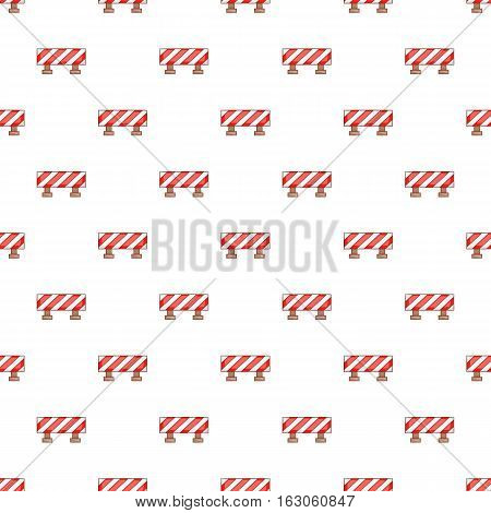 Sign ban travel pattern. Cartoon illustration of sign ban travel vector pattern for web