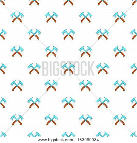Two axe pattern. Cartoon illustration of two axe vector pattern for web