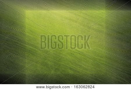 abstract green background with soft pattern and darker frame