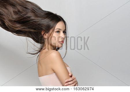 Long Hair Thrown Up