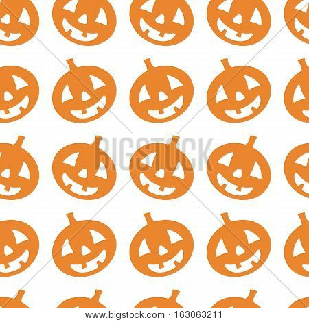 Halloween vector pumpkin pattern. Endless texture can be used for wallpaper, pattern fills, web page, background, surface
