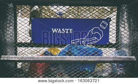 Lots Of Different Trash, Words On Paper Sticker