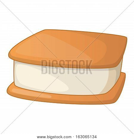 Waffle ice cream icon. Cartoon illustration of waffle ice cream vector icon for web design