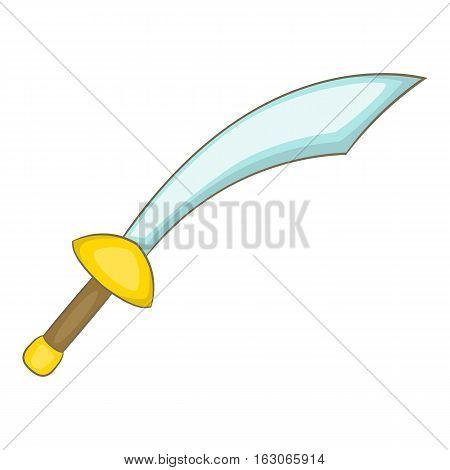 Saber icon. Cartoon illustration of saber vector icon for web design