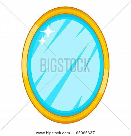 Mirror icon. Cartoon illustration of mirror vector icon for web design