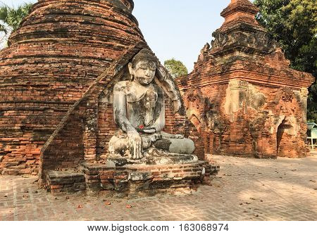 Buddha Statue In The Ancient Temple