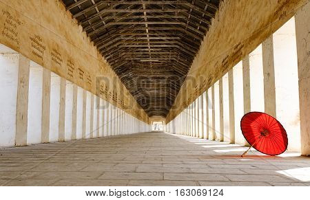 Lobby Of Shwezigon Pagoda In Bagan