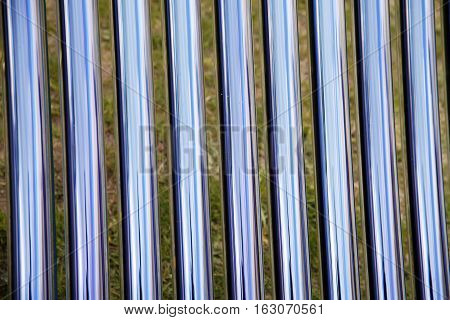 Tubes of a solar heating system. Elements of solar heating system