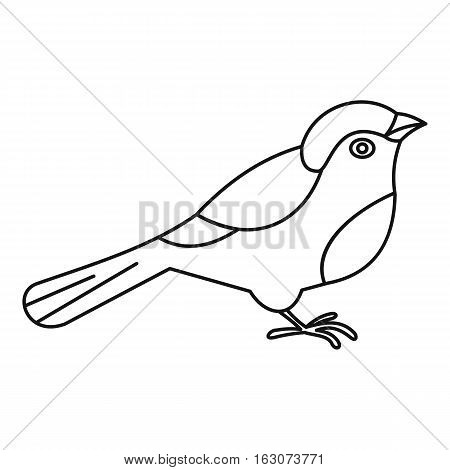 Bird icon. Outline illustration of bird vector icon for web