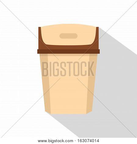 Big trashcan icon. Flat illustration of big trashcan vector icon for web